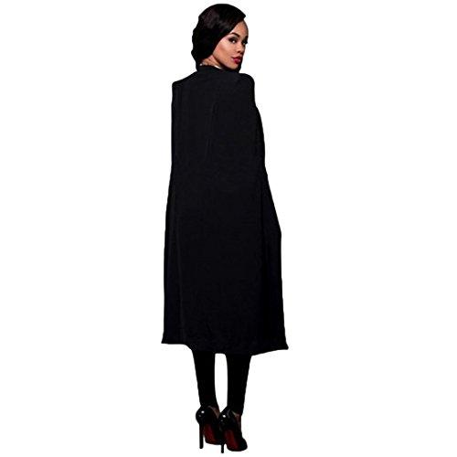 GBT Einfarbig Lange Großen Mantel Schwarz
