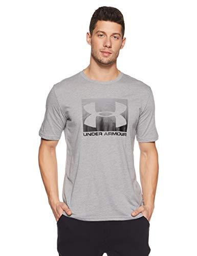 Under Armour Herren UA Boxed Sportstyle SS Kurzarmshirt, Grau (Steel Light Heather/Graphite/Black 035), XXL