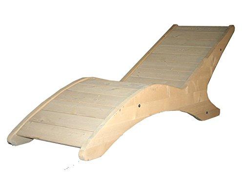 Sdraio benessere sauna abete naturale ergonomico chaise longue di design e qualità