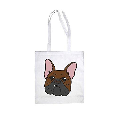 Baumwolltasche Jutebeutel French Bulldog Damentasche Einkaufstasche Hipster Weiß