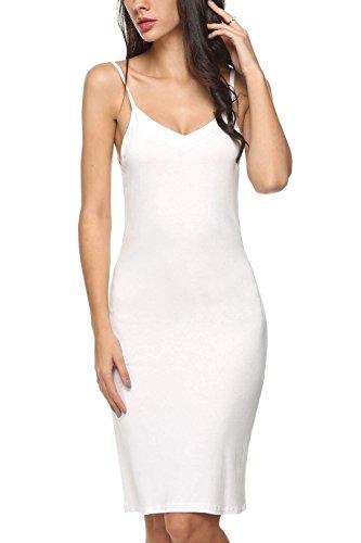 Avidlove Damen Dessous Klassische sexy Neglige Unterrock mit Trägern (L(44-46), Weiß) (Klassische Dessous)