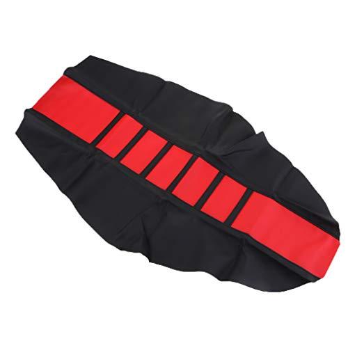 Universal Sitzbank Abdeckung, Motorrad Motorroller Sitzbezug atmungsaktiv Netzkissen - rot schwarz