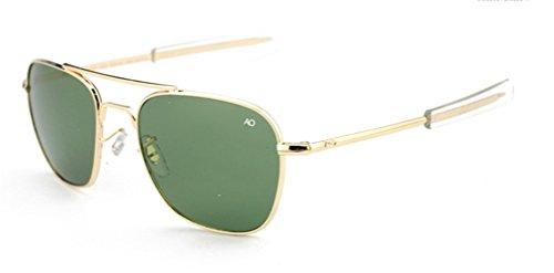 DFGHGXCNBX Sonnenbrillen Männlich Glas Quadratischer Rahmen Polarisiert UV 400 Schutz Reisen Im Freien Angeln Fahren Sonnenblende, 004