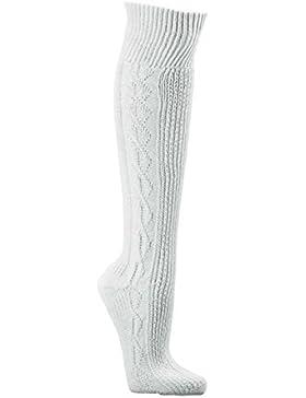 1 Paar Herren Trachtenstrümpfe Kniebundhosen-Strümpfe uni-reinweiß gemustert,Trachten-mode CH-686