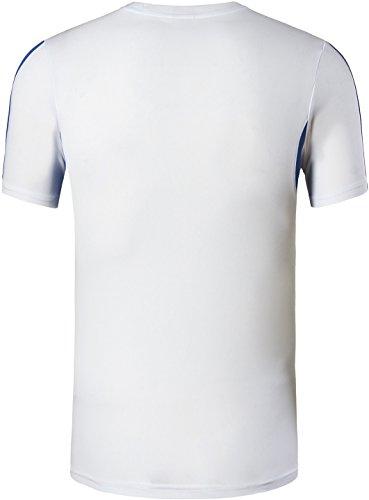 jeansian Herren Sportswear Quick Dry Short Sleeve T-Shirt LSL3225 LSL148_White
