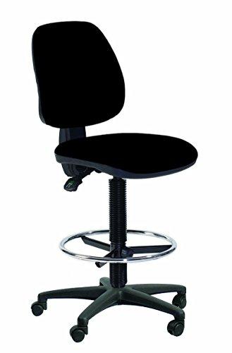Topsit IND201 Arbeitsdrehstuhl hoch mit Fußring Sitz und Rücken Ecoleder gepolstert