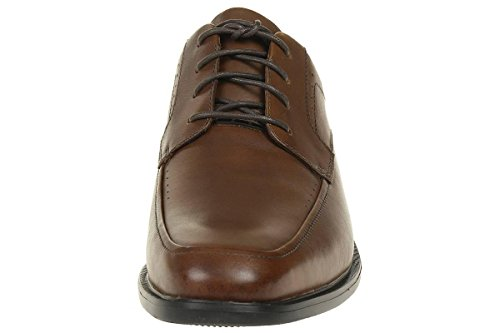 Clarks Unbizley View tan brown leather Men's Business Derby shoes Braun (Tan Leather)