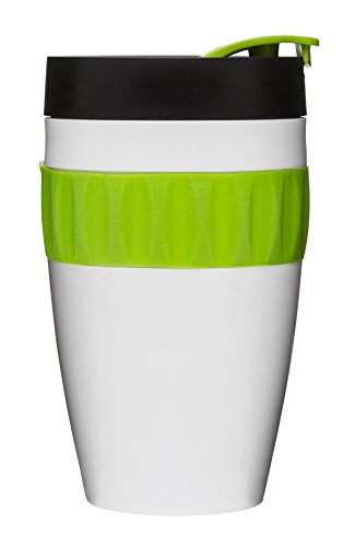 Sagaform Mug à Emporter, en Plastique, Blanc/Noir/Vert
