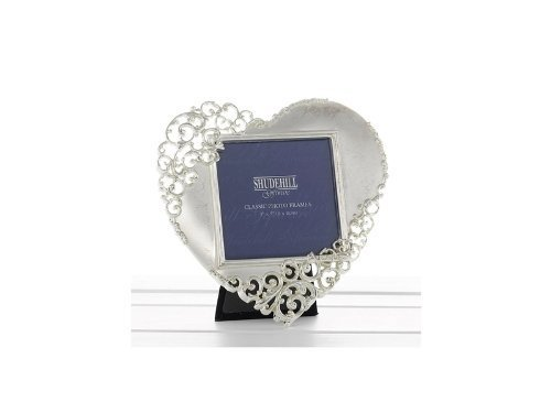 Gifts and more gifts - cornice a forma di cuore decorato, colore: argento