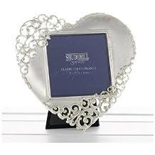 Gifts and More Gifts Marco para fotos con forma de corazón y encaje, regalo para San Valentín o cumpleaños, 20233, 127 x 127 mm