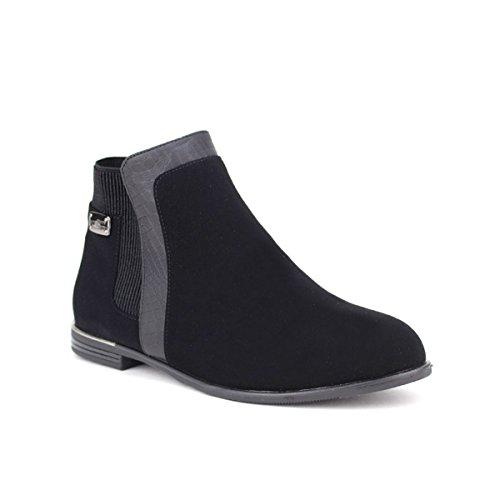 Cendriyon, Bottine Noire PATTY LOOK Chaussures Femme Noir