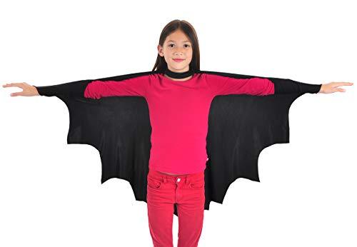 Coolchange costume da pipistrello, mantello per bambini, taglia: 120