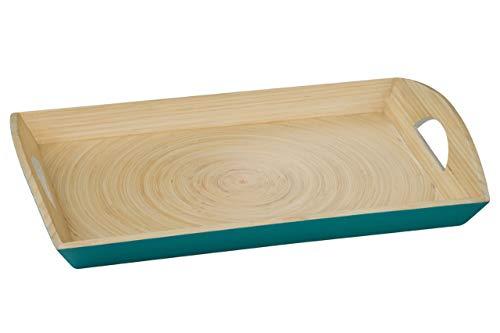 Premier Housewares 1104350 Kyoto Plateau de Service en Bambou Turquoise