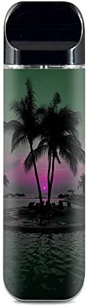 IT'S A SKIN Decal Vinyl Wrap for Smok Novo Pod System Vape Sticker Sleeve Cover/Sunset Tropical Paradise P