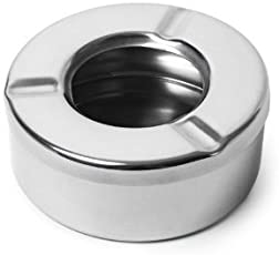 Dynore Stainless Steel Ash Tray, Silver