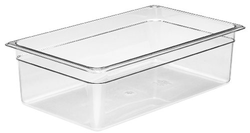 Camwear Food Pan, Plastic, Full Size, 6'' Deep, Polycarbonate, Clear, Nsf (6 Pieces/Unit) by Cambro Camwear Food Pan