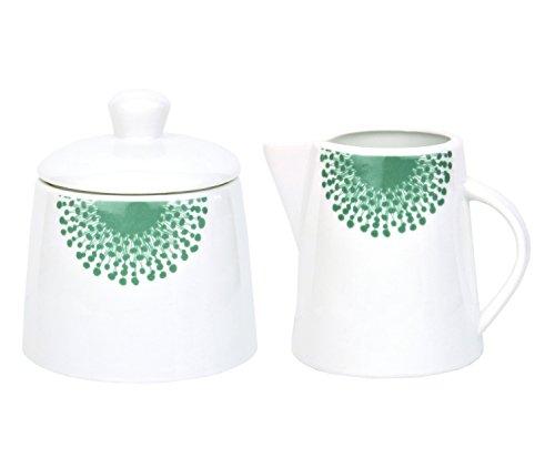 Kaffeeergänzungsset Milchkännchen & Zuckerdose Modena Pusteblume