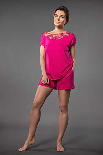 Millesime Lingerie TOP Shirt Damen Bluse Damen Pullover Sexy Top Sexy Oberteile Top mit Spitze Home Schlafanzug Damen Nachtwäsche Große Größe Sexy Frauen Pyjama Damen Plus Size Top Spitze Homewear (Pullover Nachtwäsche)