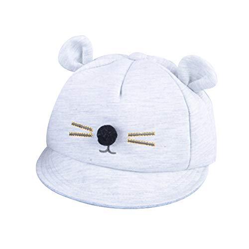 beiguoxia Sonnenschein niedliche Mode Kind kleine Maus Profil Hut Baby Boys Girls Mouse verstellbare Baseball Cap breiter Krempe Sonnenblenden Snapback Hut Dunkelgrau