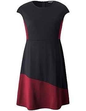Chicwe Vestidos Elásticos Tallas Grandes Mujeres A-Line Vestido con Paneles 1X-4X