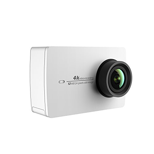 YI 4K Sports Action Camera 12MP Ultra HD Camcorder with Wide Angle Lens 2.19 Inch Touch Screen Voice Control (White)
