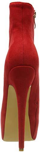 EKS Frauen Frühling Winter Stiefeletten Reißverschluss Nieten Dekoration Extreme High Heel Stiefel - 2