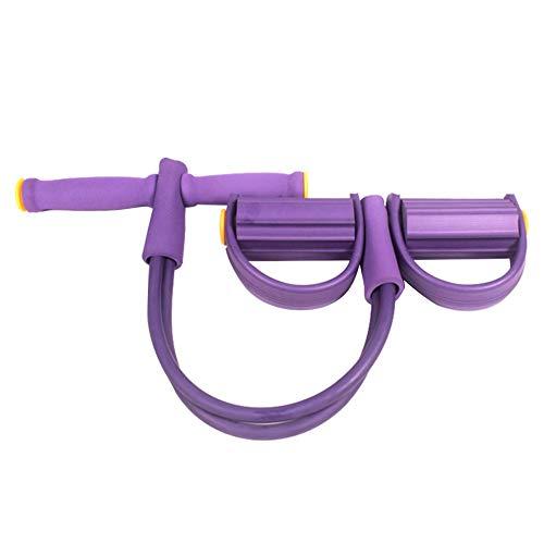 Banda de resistencia de pedal Elástica Cuerda de tracción Equipo de gimnasia Expansión de musculación para Abdomen Cintura Brazo Pierna