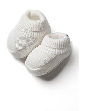 Strickschuhe / Erstlingsschuhe / Babyschuhe / Babyschühchen aus 100 % Baumwolle für Neugeborene, Beige - Tricot...