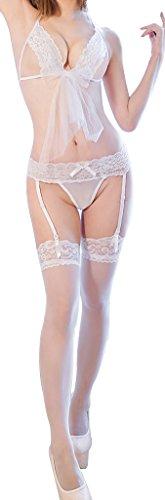 Ailin home- Weiß Sexy Netz Garn Schmetterling Brautkleid Unterwäsche ( Farbe : Weiß , größe :...