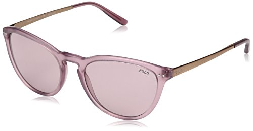 Polo Ralph Lauren Damen 0Ph4118 522084 55 Sonnenbrille, Pink (Vintagentique Rose)