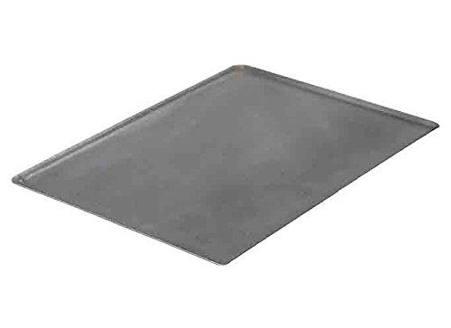 De Buyer 5363.40 Plaque Rectangulaire - Bords Pincés - Tôle d'Acier Noire - 40 x 30 cm