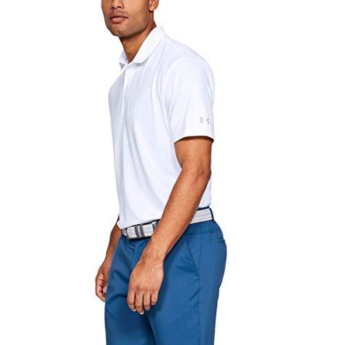 Under Armour Herren Solide Leistung 2.0 Golf-Polo-Hemd - Weiß - S