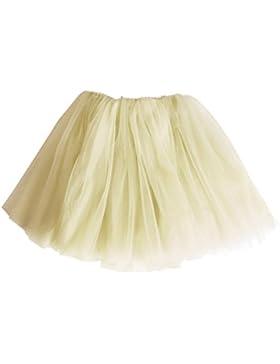 Andux Zone Falda de Tul Tutú Gasa Faldas Vestido Princesa Hada Fiesta Ballet para Muchacha Niña SS-BSQ01