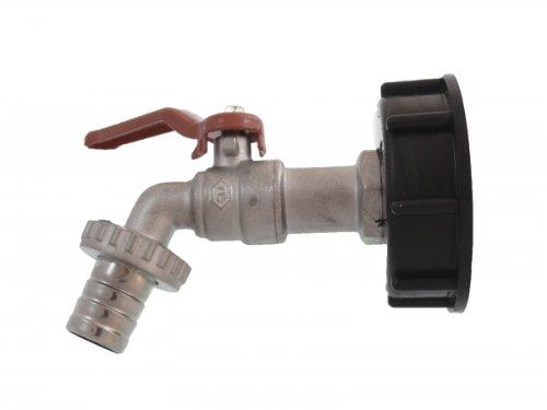 """IBC Wassertank-Zubehör, Prime, Kugel Auslaufventil mit Hebel 1/2\"""", DIN61"""