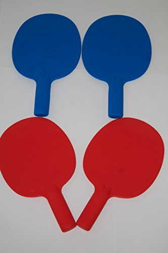 set-of-4-robust-plastic-table-tennis-bats-pingpong-auction-game-paddlesmrmrs-color-2-red-2-blue