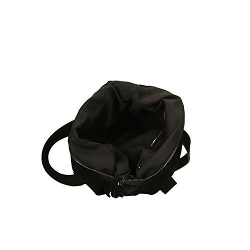Chicca Borse Borsa a tracolla in pelle 37x37x6 100% Genuine Leather Nero
