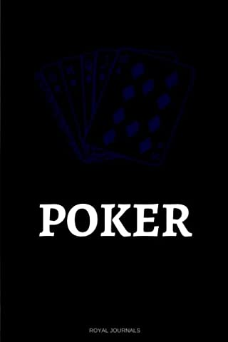 Poker: Journal notebook, 6 x 9 inches, Lined pages