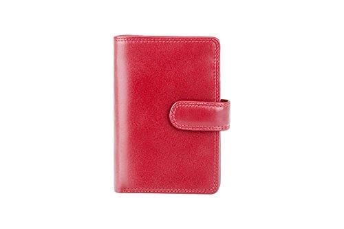 """Visconti portafoglio di pelle da donna a piegatura doppia """"Monza"""" Italian Leather Purse (MZ-11): (marrone (brown)) Rosso (Red)"""