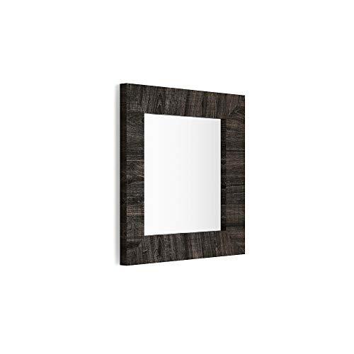 Mobili Fiver, Miroir Mural carré, Cadre Chêne Brown, Giuditta 65, 65 x 65 x 3,5 cm, Mélaminé/Verre, Made in Italy