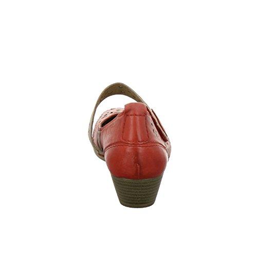 Jana 24323-26-533, Scarpe col tacco donna Rosso (rosso)