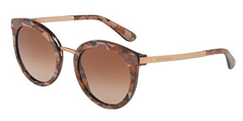 Dolce & gabbana 0dg4268 313113 52 occhiali da sole, oro (cube bronze/browngradient), donna