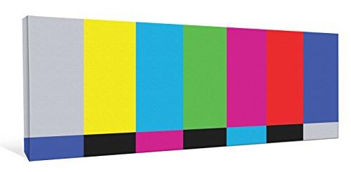 JP London cnvpan5032Retro TV Fernseher Farbe Bars 5,1cm Dick Gallery Wrap Heavyweight Canvas Art Tapete, 116,8x 40,6cm (Wallpaper Portfolio)