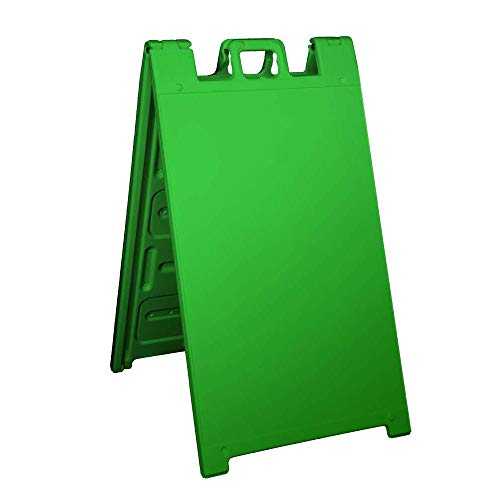 Plasticade Signicade Curb Sign / A-Frame 24x36 Color:Green by Plasticade