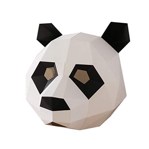 e Perfekt für Fasching Festival, Halloween-Party-Kostüm Pandamaske Unisex für Kinder (5-11) ()
