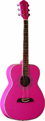 Oscar Schmidt OF2 P - Chitarra acustica, colore rosa