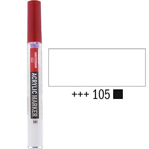 Royal Talens Amsterdam Marker - Titanweiß 1-2 mm Spitze - brillante Acrylfarbe in tollen Farbtönen