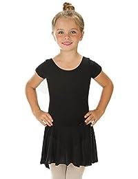 elowel Enfant Fille Justaucorps Robe de Danse Manche Courte Gymnastique  Ballet Danse Leotard Combinaison Bodysuit (2-14 Ans) Nombreuses… acb34a42641