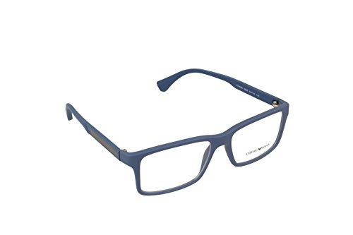 Preisvergleich Produktbild Emporio Armani Für Mann 3038 Blue Rubber Kunststoffgestell Brillen, 54mm
