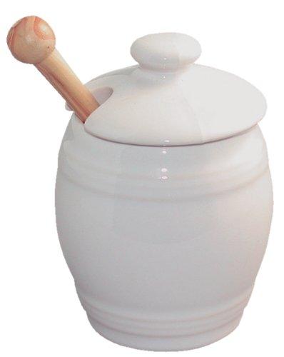 Revol 640451 Senftopf, mit Deckel und Löffel, Porzellan, 9cm, Weiß