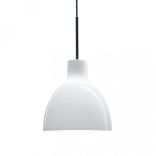 Toldbod - Suspension verre blanc/Ø22cm